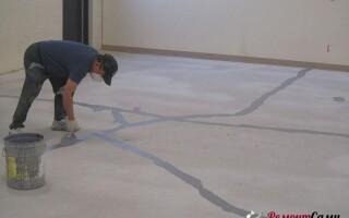 як відремонтувати бетонну підлогу