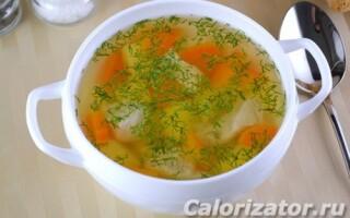 Курячий суп з пшоном і картоплею