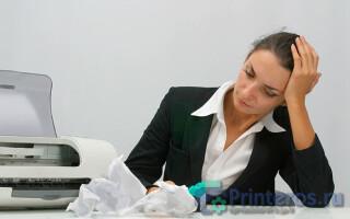 як полагодити принтер якщо в ньому застрягла папір