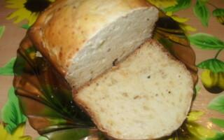 Хліб з сиром в хлібопічці рецепти