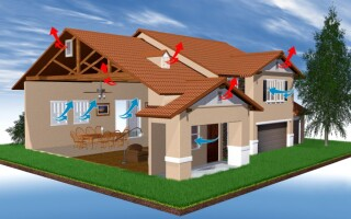 Як зробити вентиляцію в приватному будинку своїми руками в уже збудованому будинку