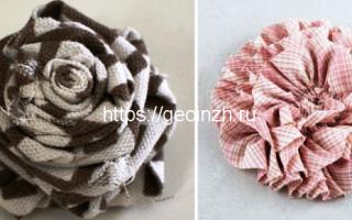 Як зробити квітку з тканини