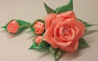Як зробити троянду з стрічки