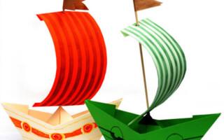 Як зробити паперовий кораблик з паперу фото покроково