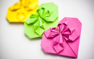 Як зробити сердечко з паперу