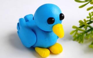 Як зробити пташку з пластиліну