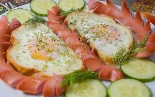 Хліб сосиски яйце рецепт