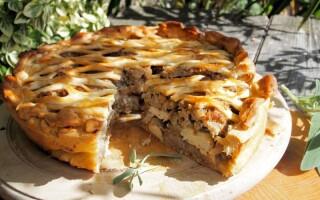 Пиріг з картоплею і грибами