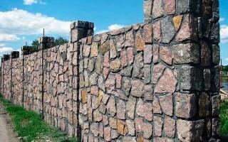 Як зробити кам'яний паркан