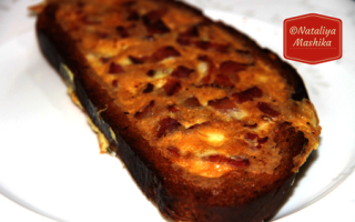 Омлет в хлібі на сковороді рецепт з фото