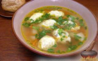 Як зробити галушки для супу