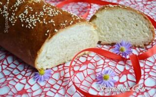 Рецепт батона хліба на воді