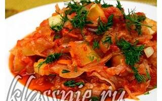 Овочеве рагу з цвітною капустою і кабачками і картоплею