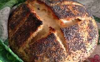 Білий хліб на житній заквасці в духовці рецепт з фото крок за кроком
