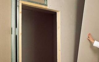 Як зробити перегородку з гіпсокартону і профілів з отвором під двері