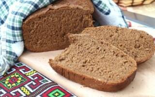Бородинський хліб в хлібопічці рецепт
