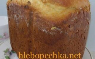 Солодкий хліб в хлібопічці Панасонік рецепти