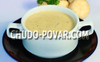 Суп пюре з печериць з картоплею без вершків