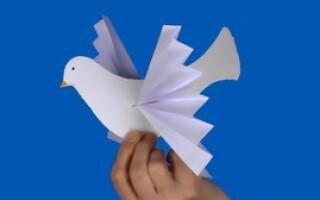 Як зробити голуба з паперу орігамі