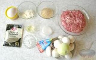 М'ясний хліб з грибами рецепт