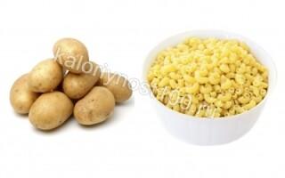 Картопля і макарони калорійність