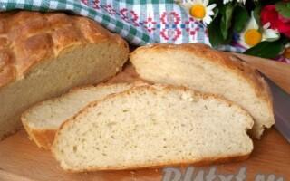 Хліб в духовці в домашніх умовах простий рецепт з дріжджами сухими на воді за 5 хв