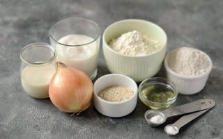 Цибулевий хліб в духовці рецепт без дріжджів