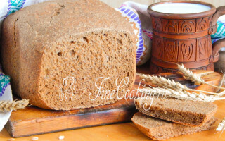 Житній хліб з солодом в хлібопічці рецепт