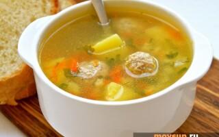 Рецепт супу з фрикадельками з курячого фаршу з картоплею