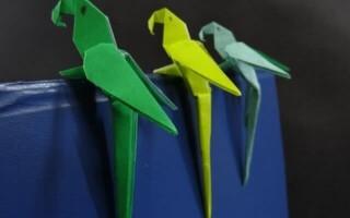 Як зробити папугу з паперу