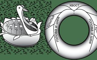 Як зробити лебедя з покришки