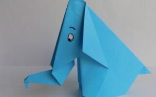 Як зробити слона з паперу