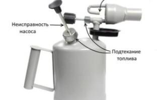 як полагодити паяльну лампу