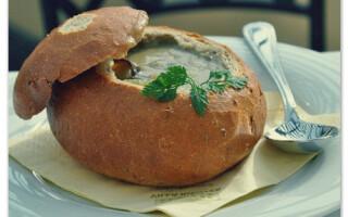 Цибулевий суп рецепт в хлібі