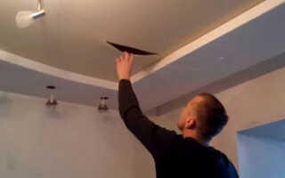 як відремонтувати натяжна стеля поріз своїми руками