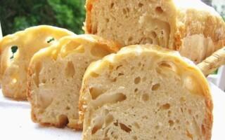 Хліб з великими дірками в духовці рецепт