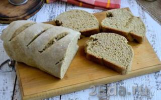 Житній хліб на кефірі без дріжджів в духовці рецепт