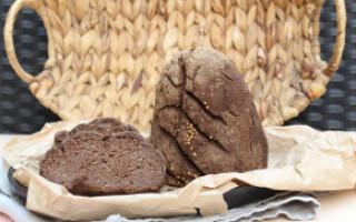 Лляної хліб в духовці рецепт без дріжджів