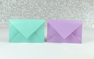 Як зробити конверт орігамі