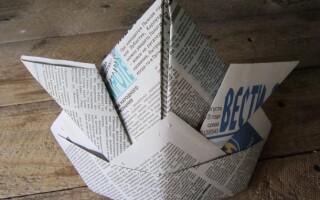 Як зробити шапку з газети