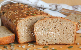 Чорний хліб з насінням рецепт