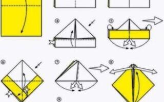 Як зробити човен з паперу