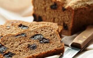 Рецепт хліба з чорносливом