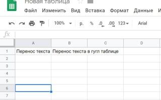 Як в гугл таблицях зробити перенесення тексту в осередку