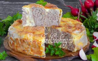 Пиріг з лаваша з сиром і картоплею в духовці
