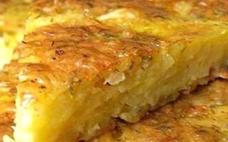 Картопля з фаршем і грибами в духовці
