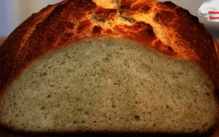 Хліб на кефірі за 5 хвилин рецепт