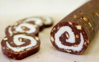 Як зробити шоколадну ковбасу
